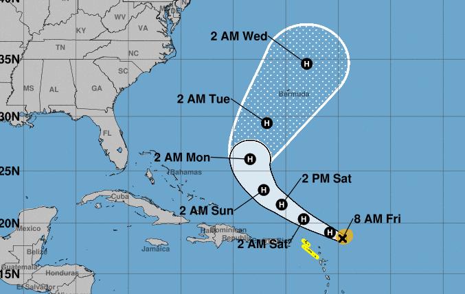 El huracán Jerrry ya es categoría 2