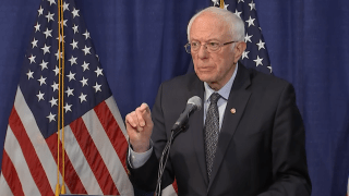 Bernie Sanders at press conference