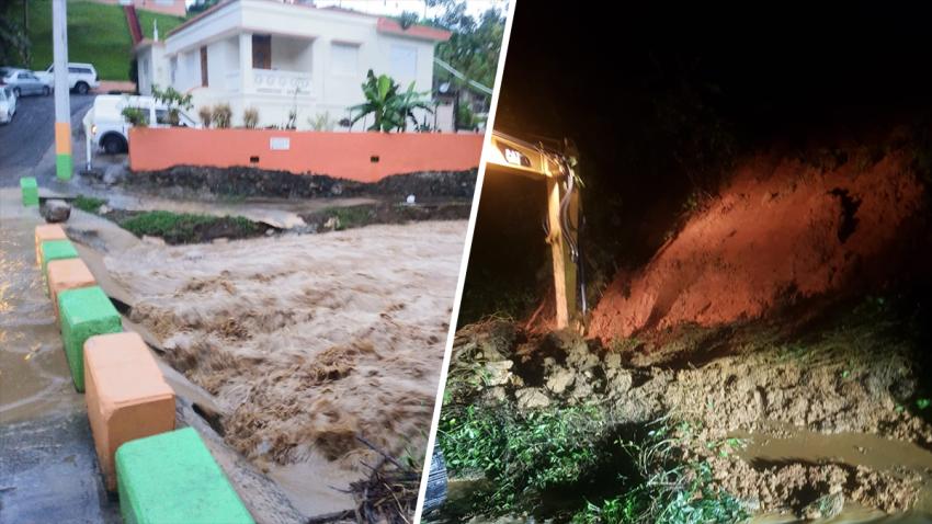 Derrumbres e inundaciones Diptych