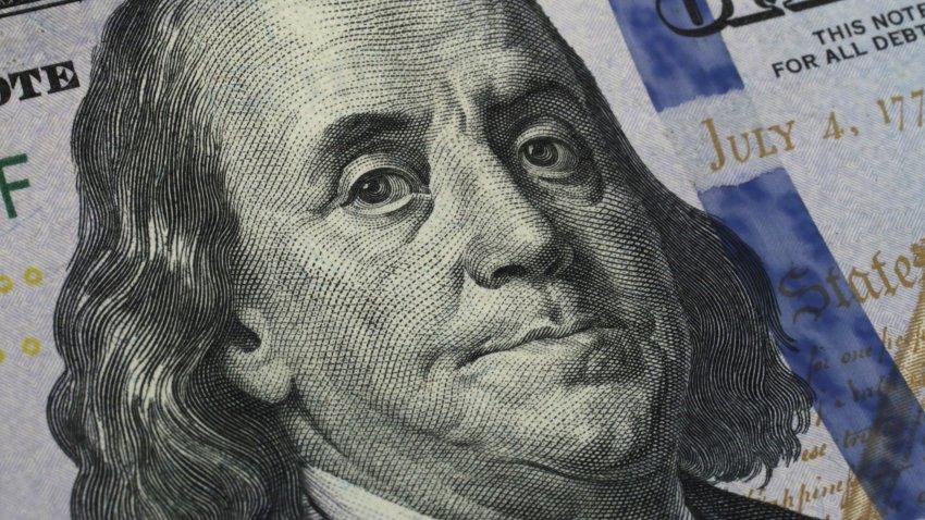 A file photo of a $100 bill.