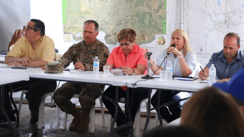 Gobernadora ofrece conferencia de prensa a una semana del terremoto
