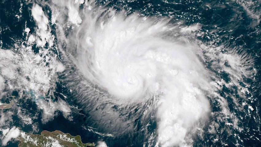 Imagen del ojo de un huracán