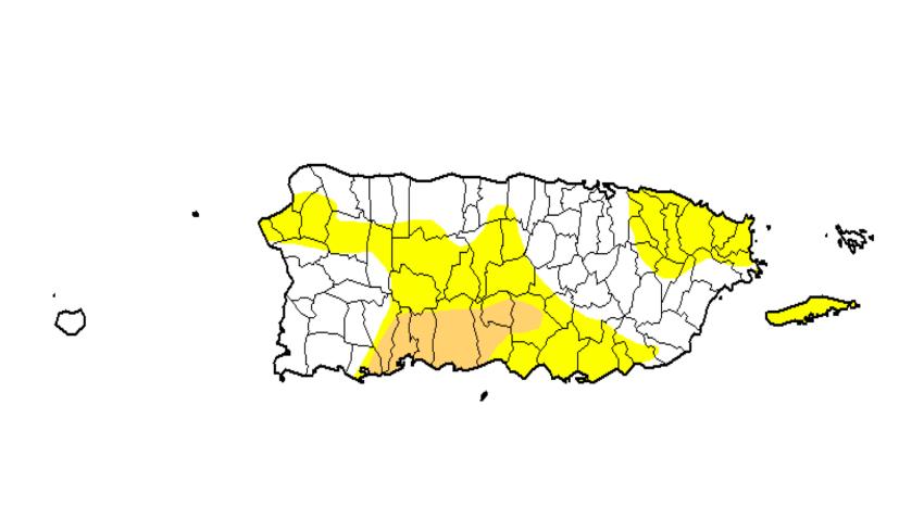 Reportan condiciones de sequía moderada en pueblos del sur