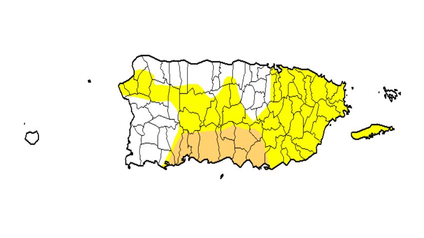 Aumento en nivel de sequía anómala y moderada