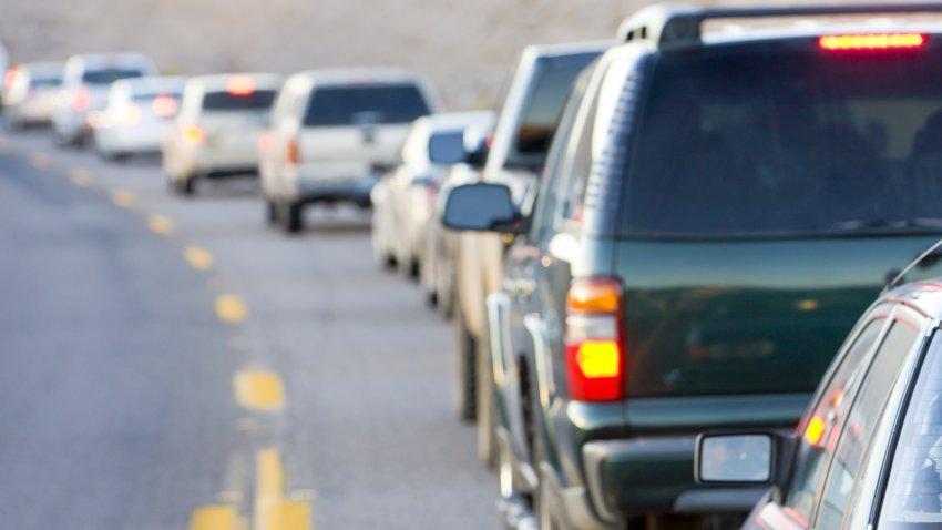 Tránsito, tapón accidente de auto, carreteras
