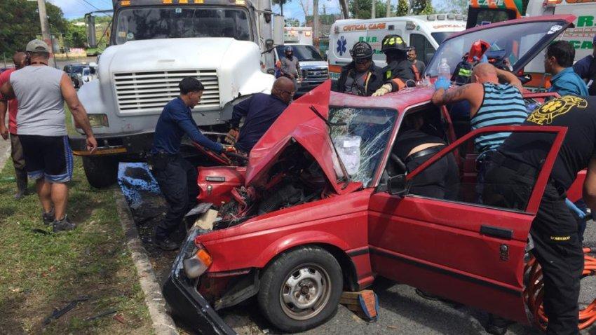 Accidente en Trujillo Alto.