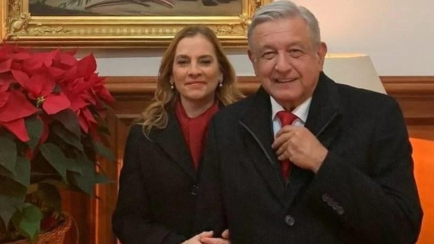 AMLO y su esposa dirigen mensaje navideño a los mexicanos.
