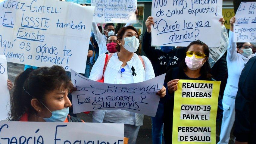 Personal médico protesta en México