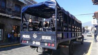 Camión de policía en Veracruz