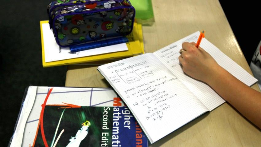 school student working classroom generic