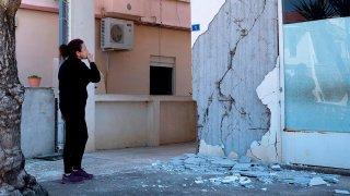Un sismo de 5.6 en escala de Richter deja daños materiales en el noroeste de Grecia.