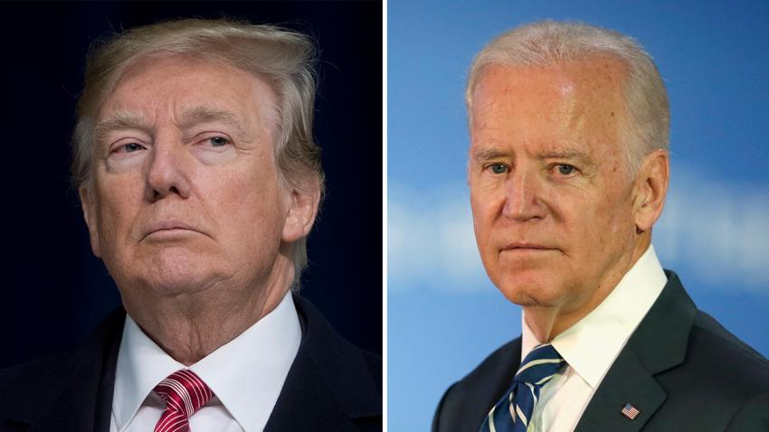 Foto de archivo de Donald Trump (izquierda) y Joe Biden (derecha).