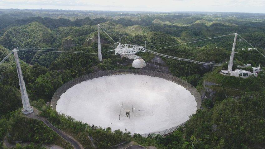 Imagen básica del Observatorio de Arecibo