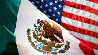 Banderas de México y EEUU
