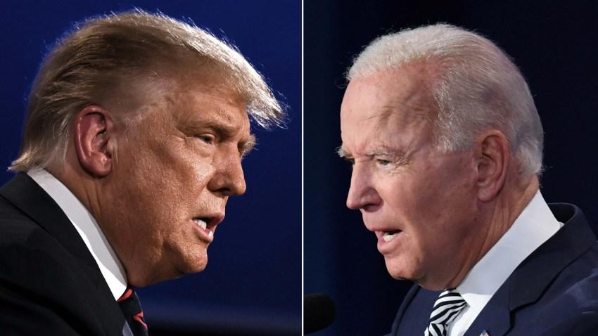 Trump y Biden en un debate
