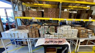 money seized during drug bust