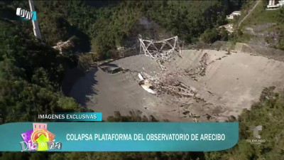 Desde el telecóptero: imágenes exclusivas del colapso del Radiotelescopio de Arecibo