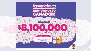 Un boleto de la Lotería Electrónica se llevó ayer, domingo, $8,100,000 millones de la Revanchax2.