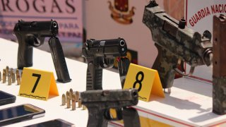 Armas incautadas en un operativo antidrogas