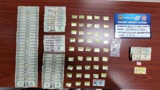 La Policía ocupó 44 bolsitas de cocaína.