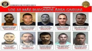 """La Policía difunde imágenes de """"Los más buscados"""" en Caguas."""