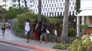 Turistas en Puerto Rico.