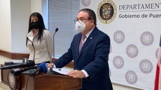 El secretario del Departamento de Justicia de Puerto Rico, Domingo Emanuelli Hernández