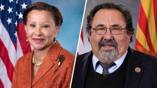 Los congresistas Nydia Velázquez y Raúl Grijalva.