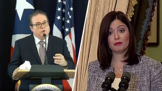 El secretario de Justicia, Domingo Emanuelli, y la jueza presidente, Maite Oronoz