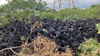 Neumáticos acumulados