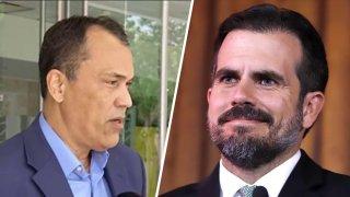 El comisionado electoral del Proyecto Dignidad, Nelson Rosario, y el exgobernador Ricardo Rosselló