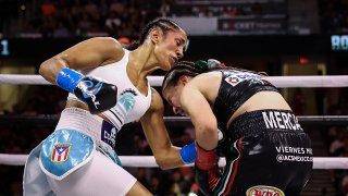 La boxeadora puertorriqueña Amanda Serrano