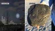 Caminata en la playa termina con cráter y presunto meteorito