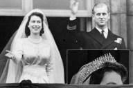 Tiara de flecos rusos - Princesa Isabel y Príncipe Philip