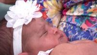 """""""Entra 'O' y la 'N', ahí nació"""", contó la orgullosa madre en """"Día a Día""""."""