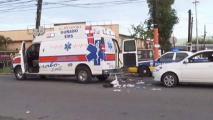 Policía arrollada pierde una pierna
