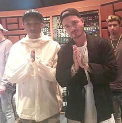 J Balvin crea música con Pharrell Williams