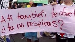 Protestan en contra de fumigación con Naled