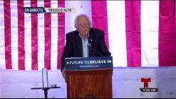Sanders inicia su apretada agenda en Puerto Rico