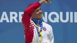 Premiación medalla de oro | Natación 200m combinado
