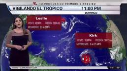 El sistema Kirk se debilita a depresión tropical