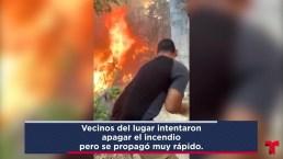Residentes tratan de contener incendio en Ponce