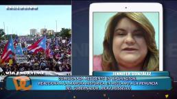 Jenniffer González reacciona al Paro Nacional