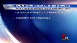 Periodista muerto en Nicaragua en protestas