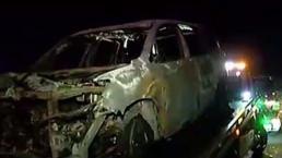 Se incendia vehículo en el expreso