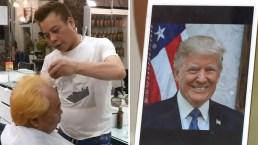 Peluquería regala cortes de pelo al estilo Trump