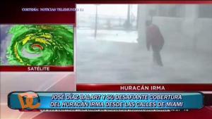 Desafiante cobertura de reportero de Telemundo