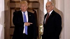 Trump nomina a Kelly para Seguridad Nacional