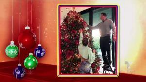 JLo y Alex Rodriguez decoran en familia su árbol de Navidad