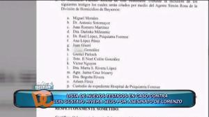 """Lista de testigos en la vista contra """"El Manco"""""""